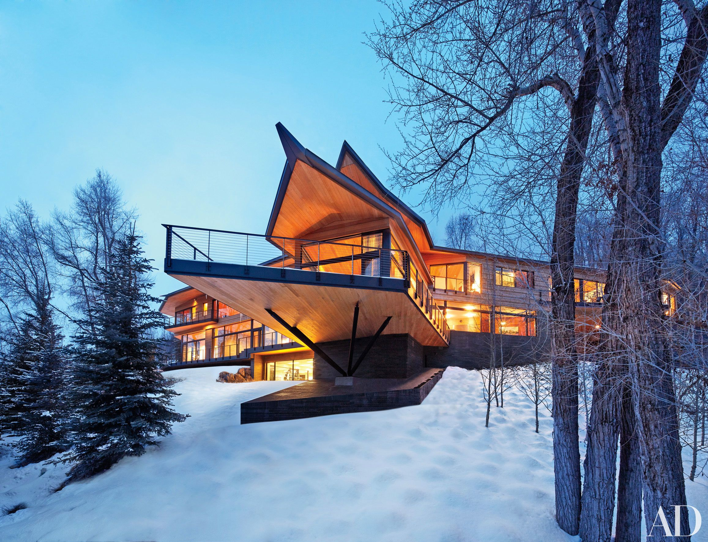 Architect Peter Marinou0027s Rocky Mountain Chalet | Architectural Digest