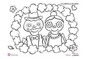 Super cute & free Dia de los Muertos coloring pages. #free