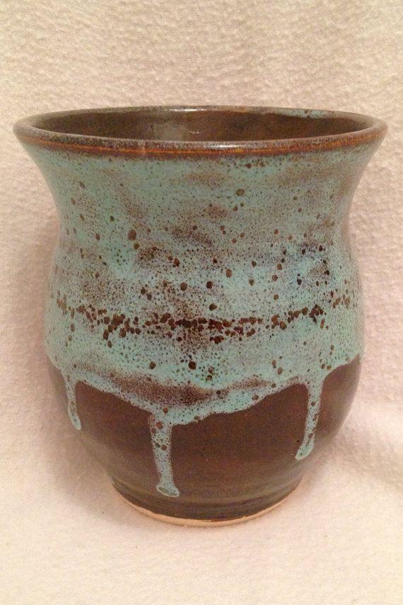 Rueda lanzada vaso de mancha de aceite por BradMorlanPottery