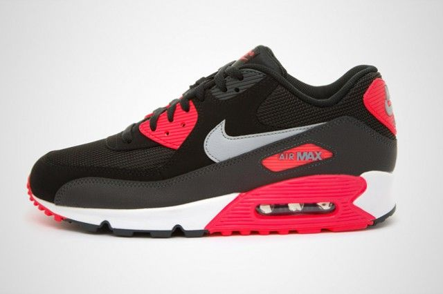 NIKE AIR MAX 90 ESSENTIAL (BLACK INFRARED) - Sneaker Freaker  bd3ccef48