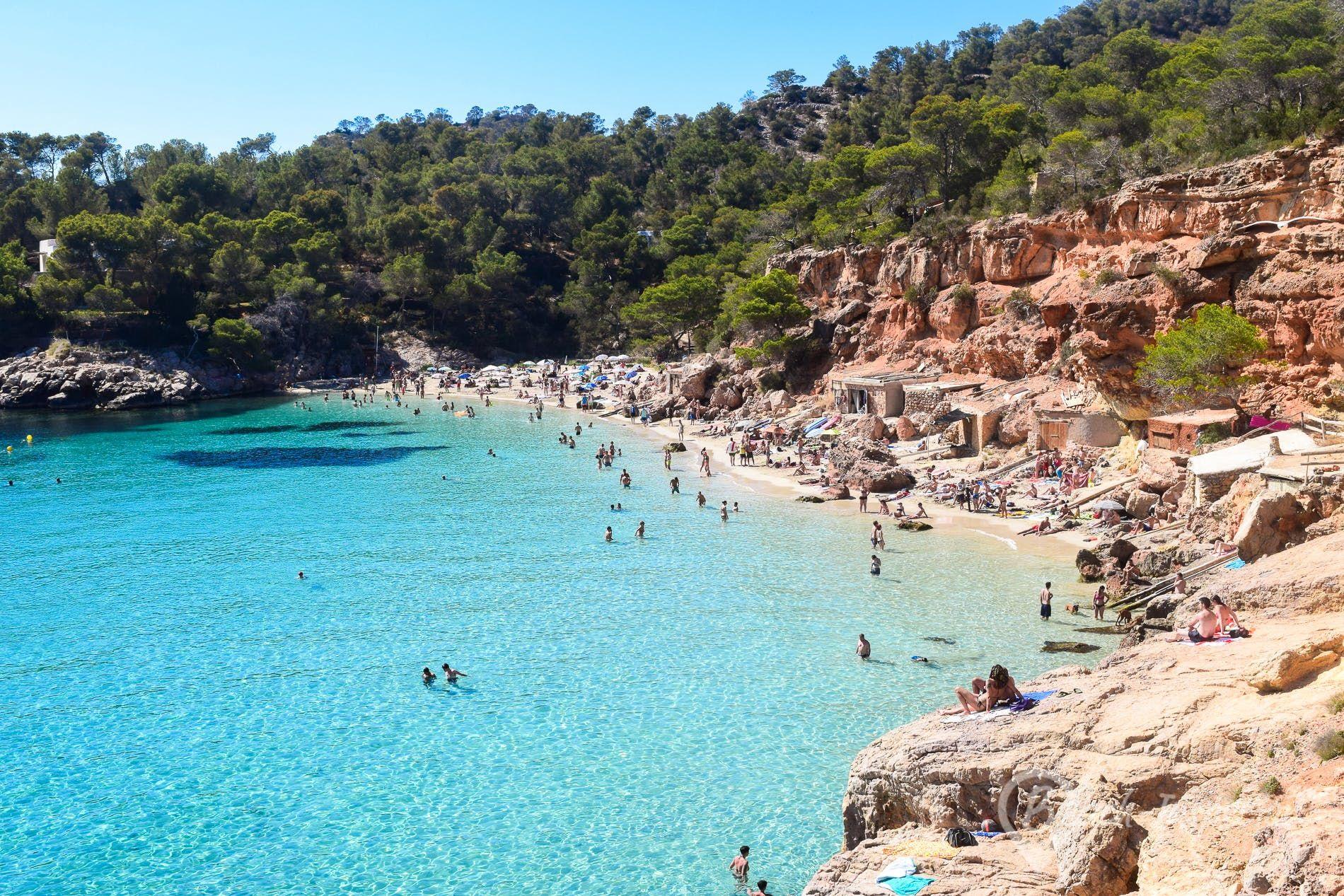 Strand Cala Salada Ibiza Spanien Ibiza Urlaub Reiseziele Ibiza