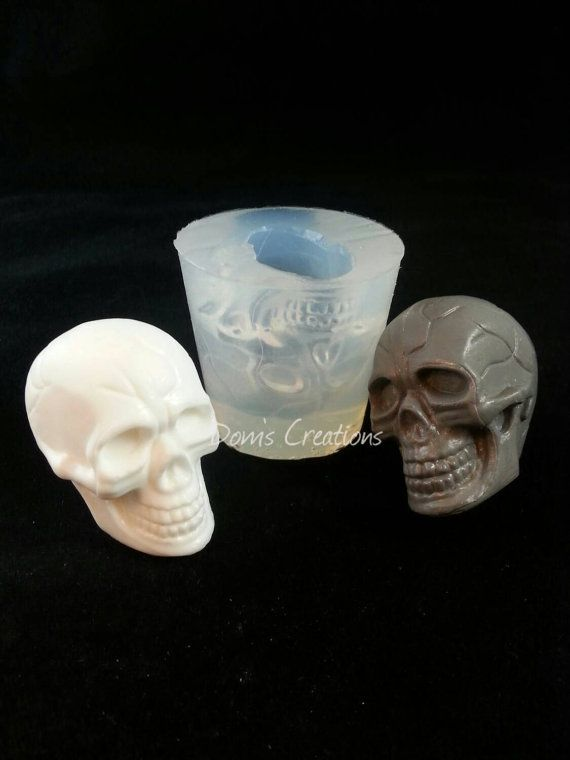 Small Silicone Skull Head Cabochon Mold Resin Casting Mould DIY 2inches