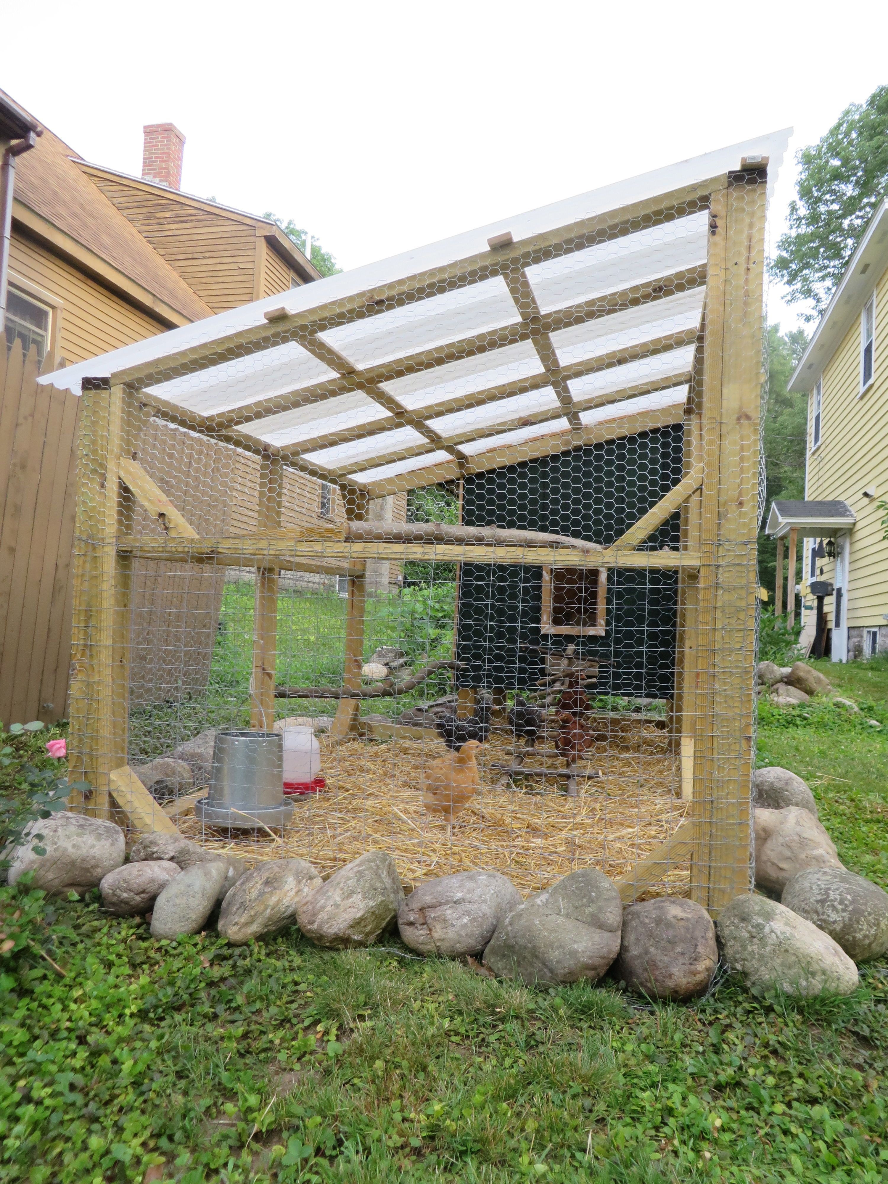 The Finally Completed Coop And Run Okay It Still Needs More Paint And Dividers Added To The Nes Chicken Garden Diy Chicken Coop Plans Backyard Chicken Coops Backyard chicken coop design plans