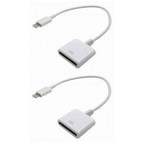 8 pin to 30 pin Cable Adapter For Apple iPhone 5S/5C/ 5 4