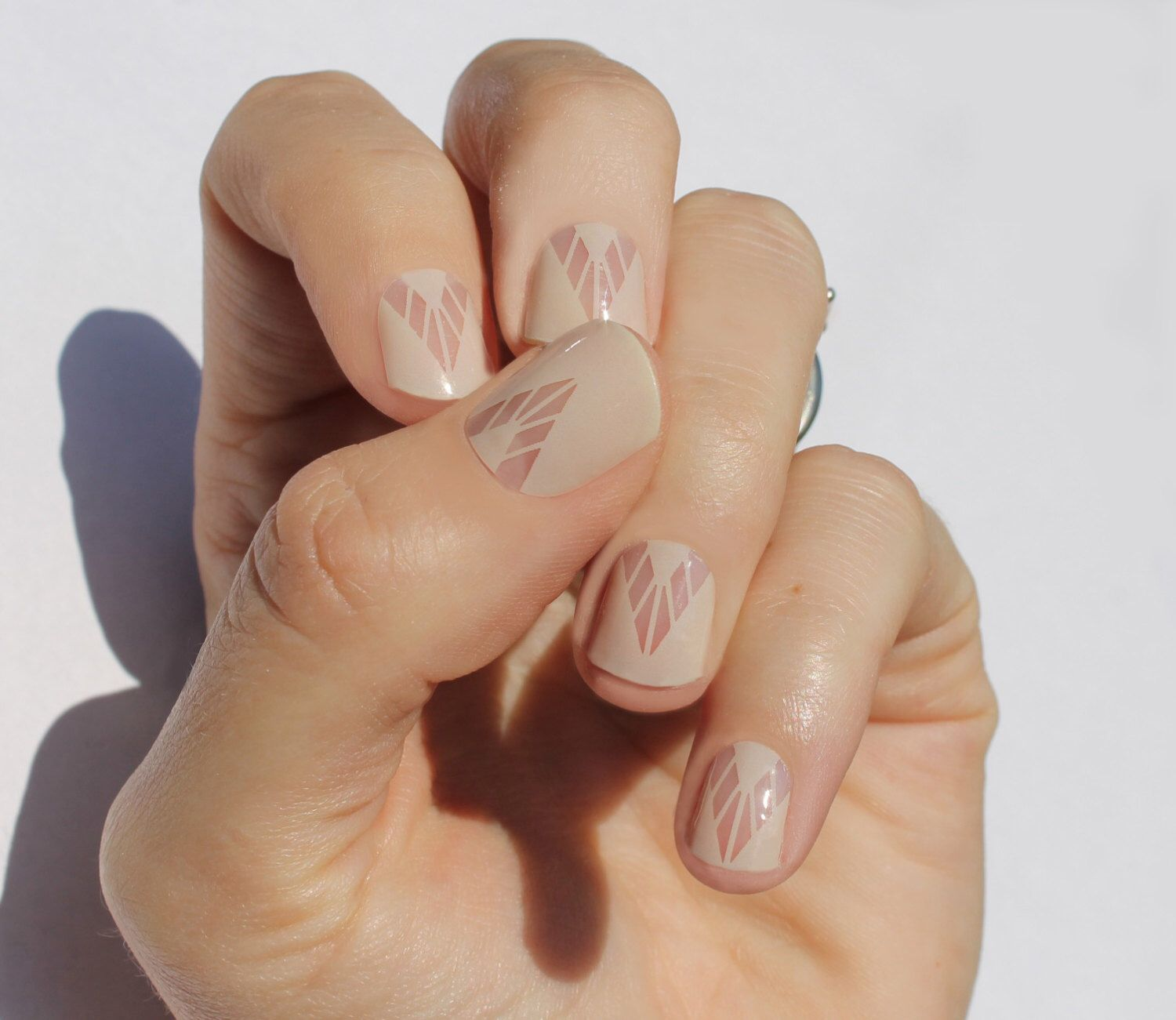 Nude Boho Nail Wraps by SoGloss on Etsy https://www.etsy.com/listing ...