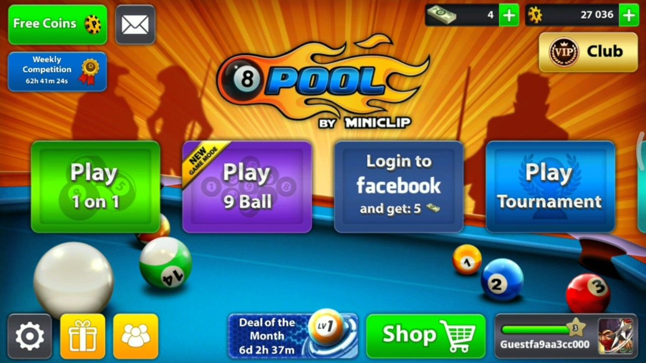 free coins for 8 ball pool android no survey