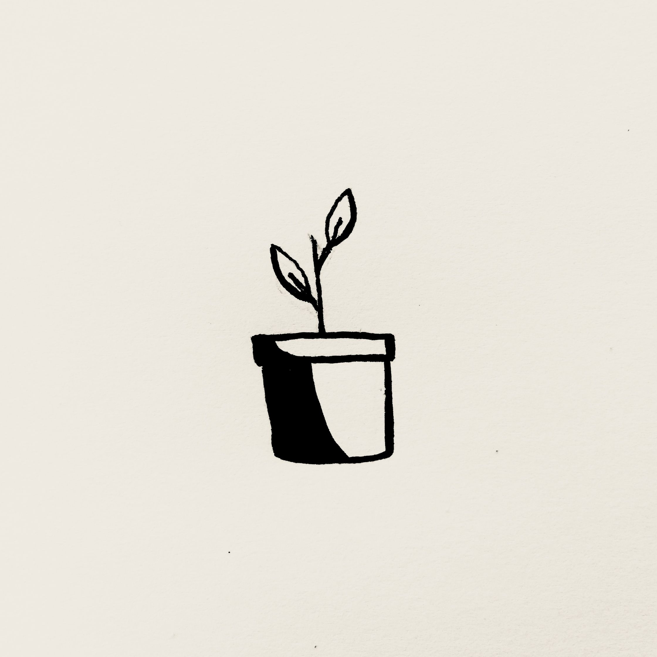 Plant Pot Art Line Drawings Plant Sketches Plant Drawing Plant Tattoo