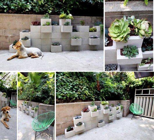 Cinder block raised garden bed is easy diy besser block for Besser block home designs
