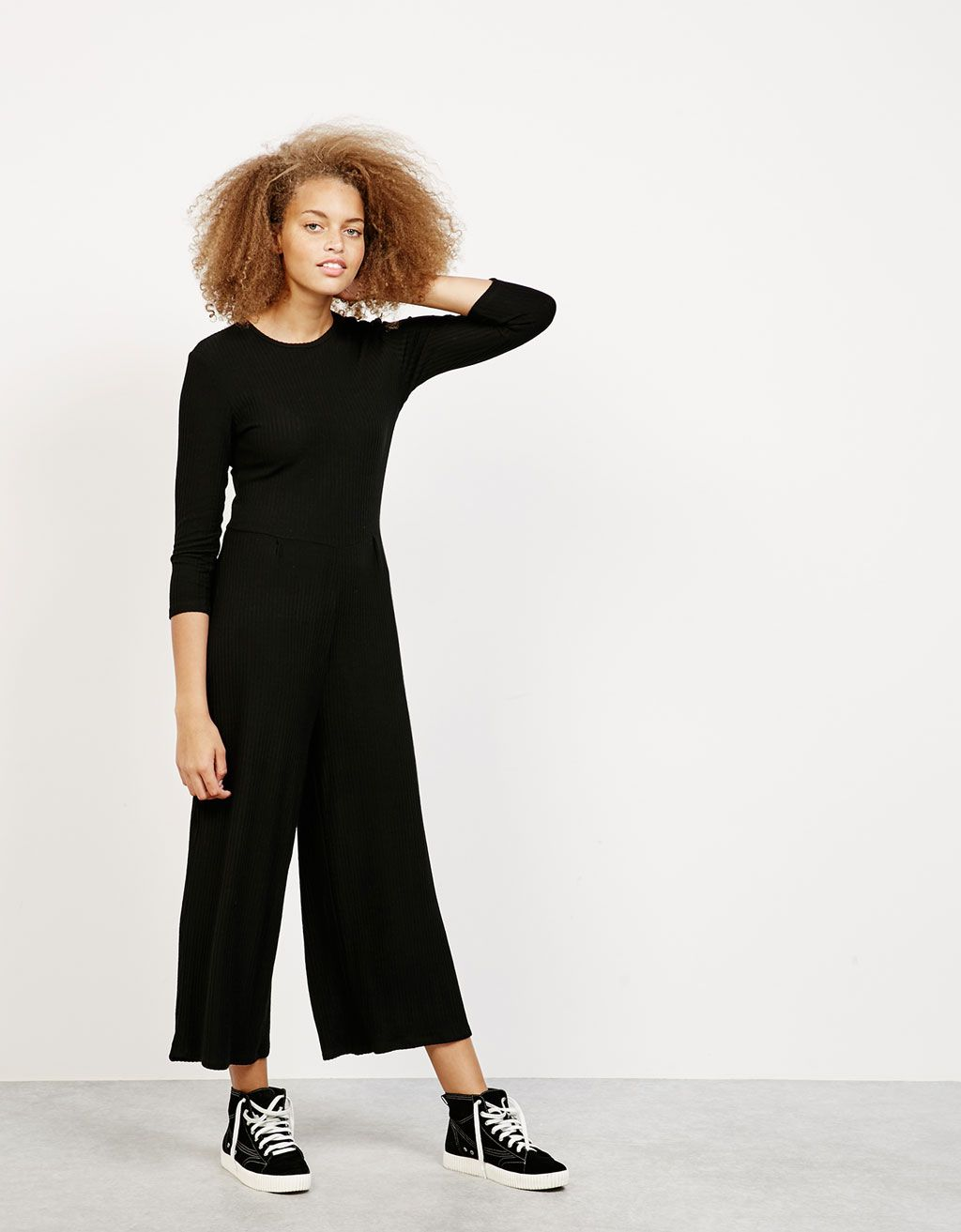 758a6c6990 Cropped ribbed jumpsuit. Discover this and many more items in Bershka with  new…