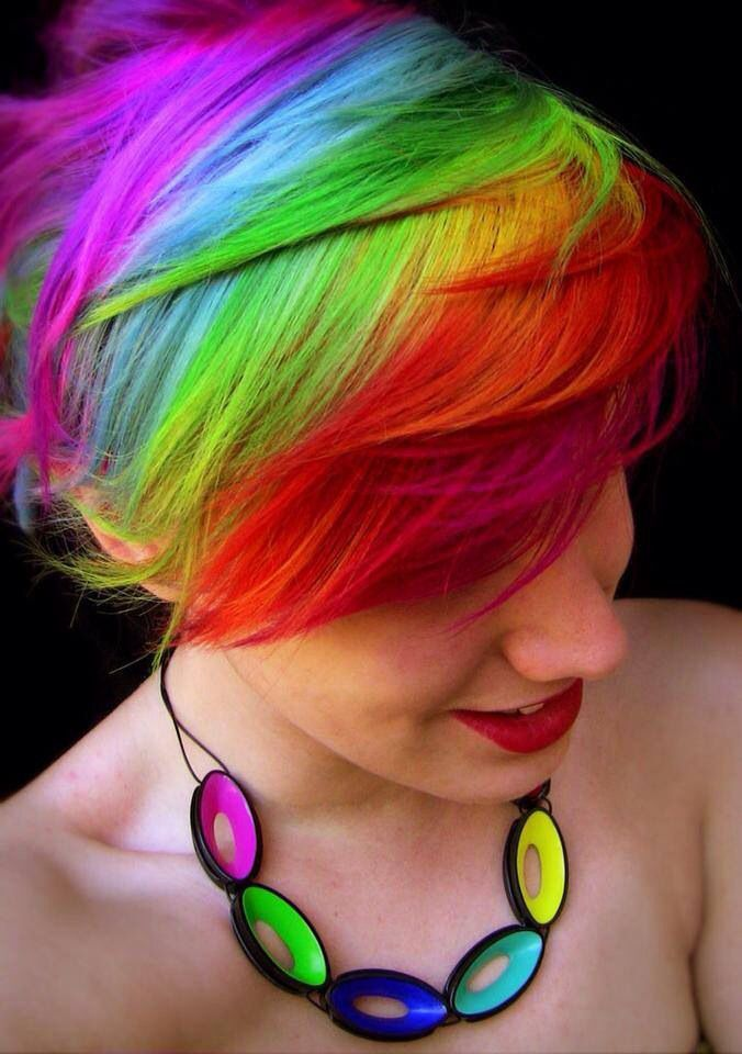 Rainbow Pixie Cut Too Bad Its A Bitch To Upkeep Style Hair