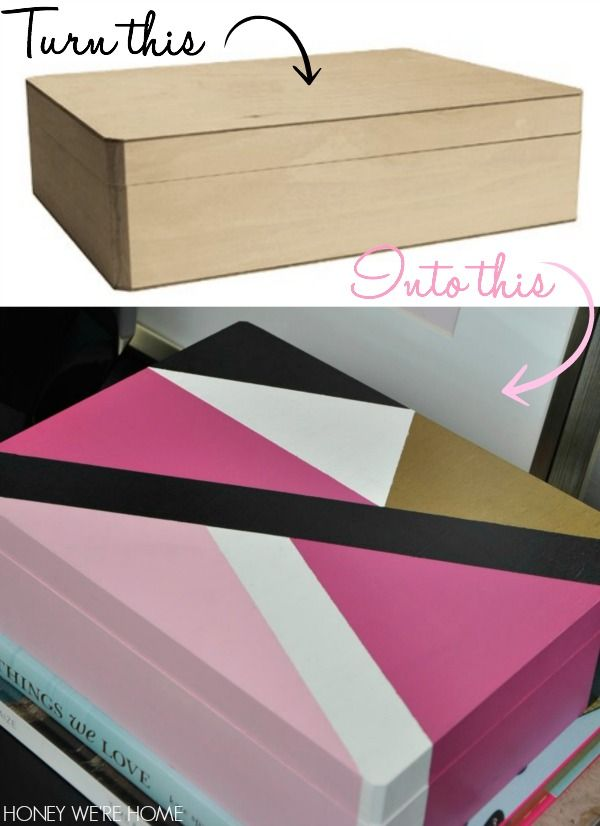 Painted Wooden Boxes DIY Pinterest Painted Wooden Boxes New How To Decorate Wooden Boxes