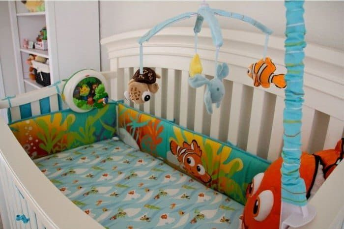 Baby Crib With Toy And Finding Nemo