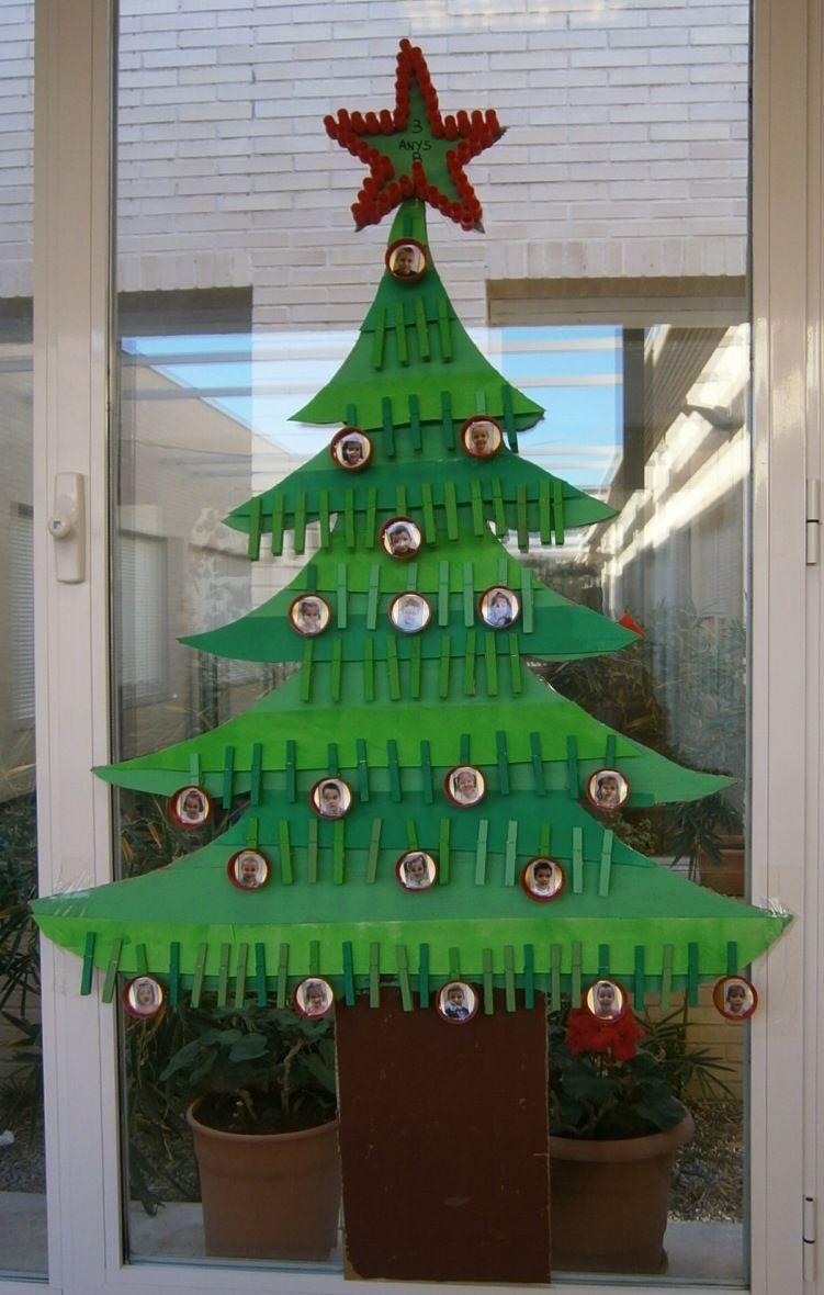 La clase de miren mis experiencias en el aula todos los for Puertas decoradas navidad material reciclable