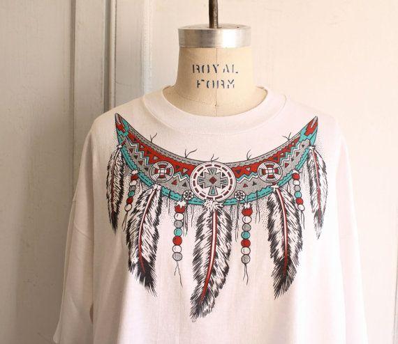 indian princess Tshirt / tribal Feathers tee