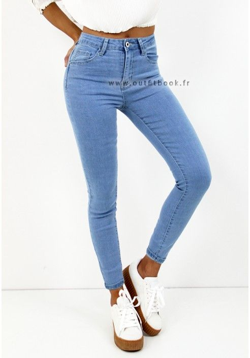 Jegging clair taille haute