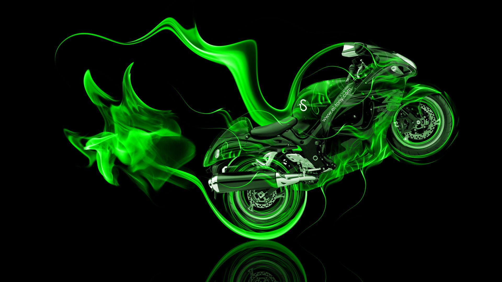 Beau Http://www.el Tony.com/wp Content/uploads/2014/09/Moto Suzuki Hayabusa Side  Super Green Fire Abstract Bike 2014 Art HD Wallpapers Design By Tony Kou2026