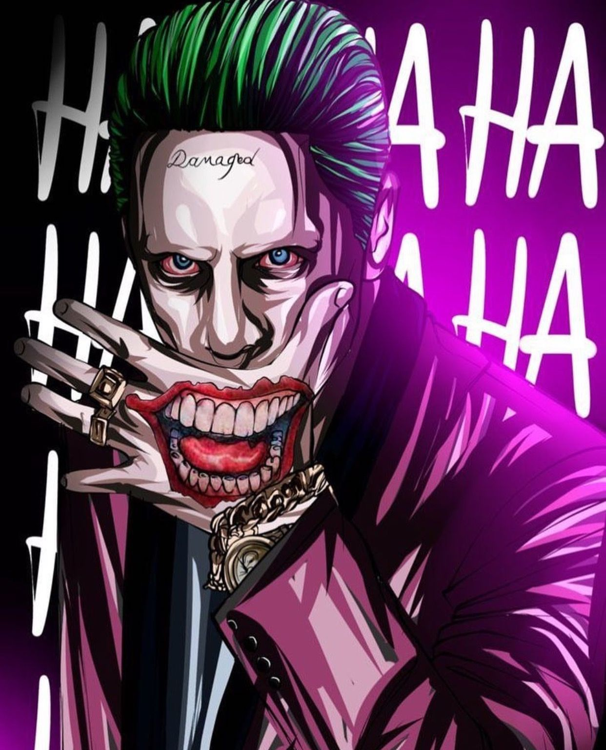 Pin Oleh Ladurshaan Varenthiran Di Batman In A Joker Harley World Karya Seni 3d Seni Gelap Gambar Serigala