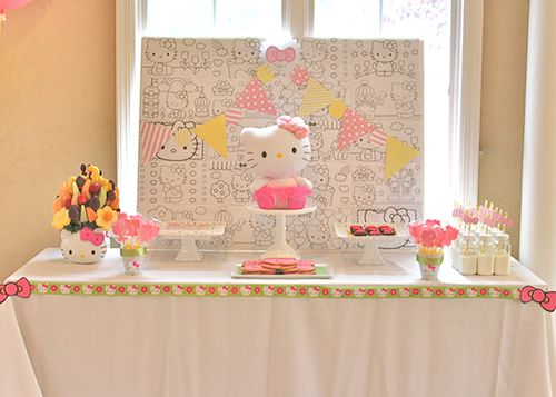 5 DIY Girl Birthday Party Ideas Hello kitty birthday Hello kitty