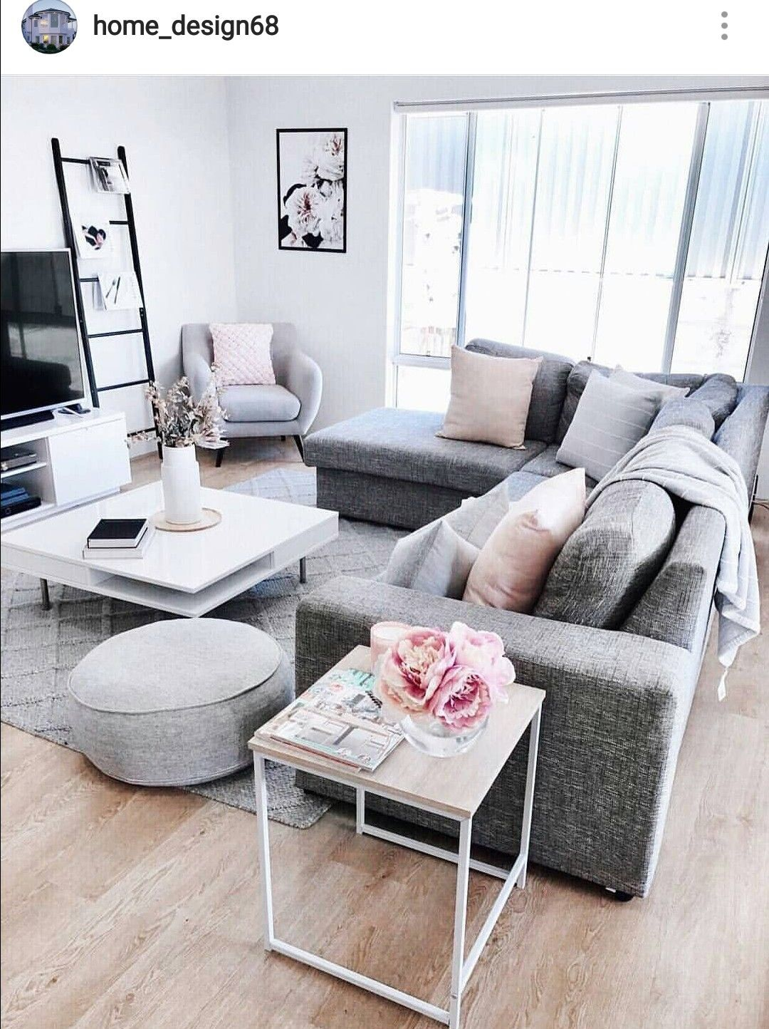 Pin By Sarah Middleton On Apartment Life Modern Grey Living Room Living Room Decor Apartment Grey Couch Living Room