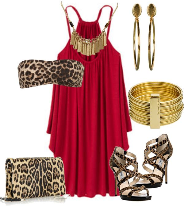 """Un touch de animal print"" by outfits-de-moda2 ❤ liked on Polyvore"