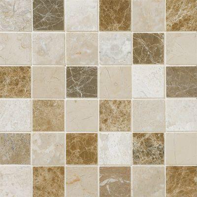 Milano Blend Polished 2x2 Marble Mosaics 12x12 Marble Mosaic Mosaic Flooring Mosaic Tiles
