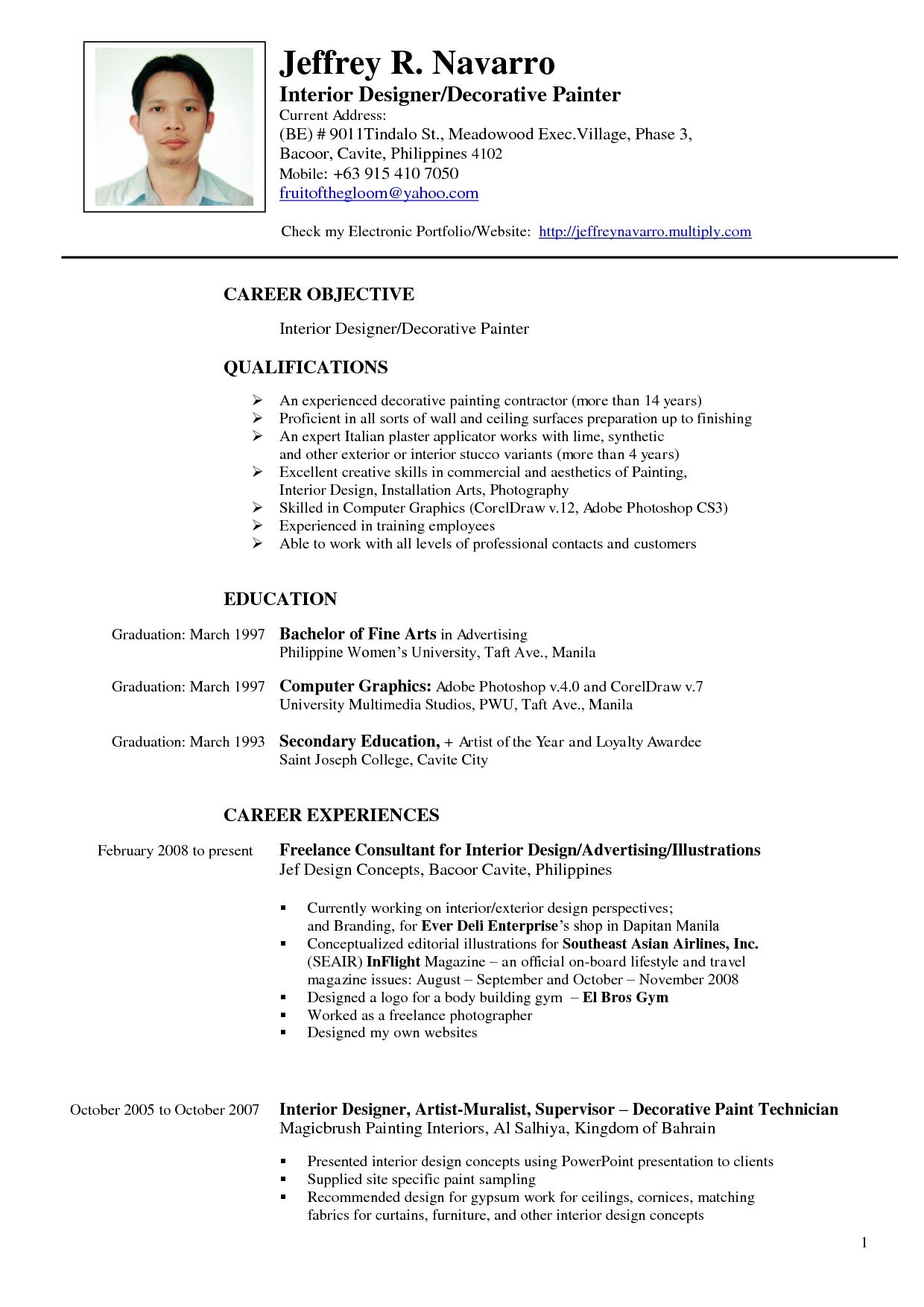 Typical Resume Format Art Gallery Resume Sample Cover Letter Free Artist  Home Design