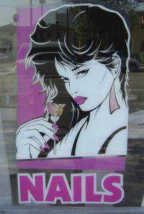 Nail Salon Window Posters Nail Art Ideas Video Game 122