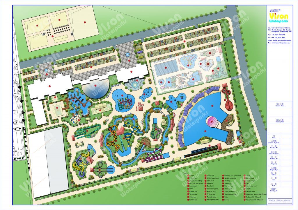 How much does it cost to invest a 50000m2 water park