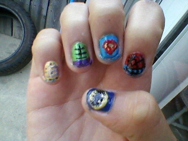 super hero nail i painted