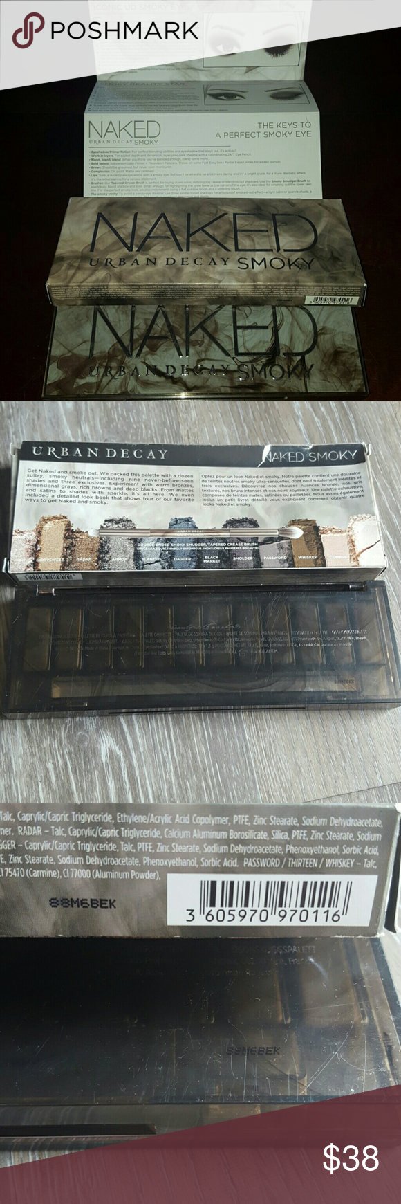 1 hr sale Authentic urban decay naked smoky Swatched a few times. Almost like new NO trades Urban Decay Makeup Eyeshadow