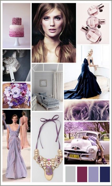 Lavender, Gray and Navy Wedding Color Inspiration | Ideas de colores ...
