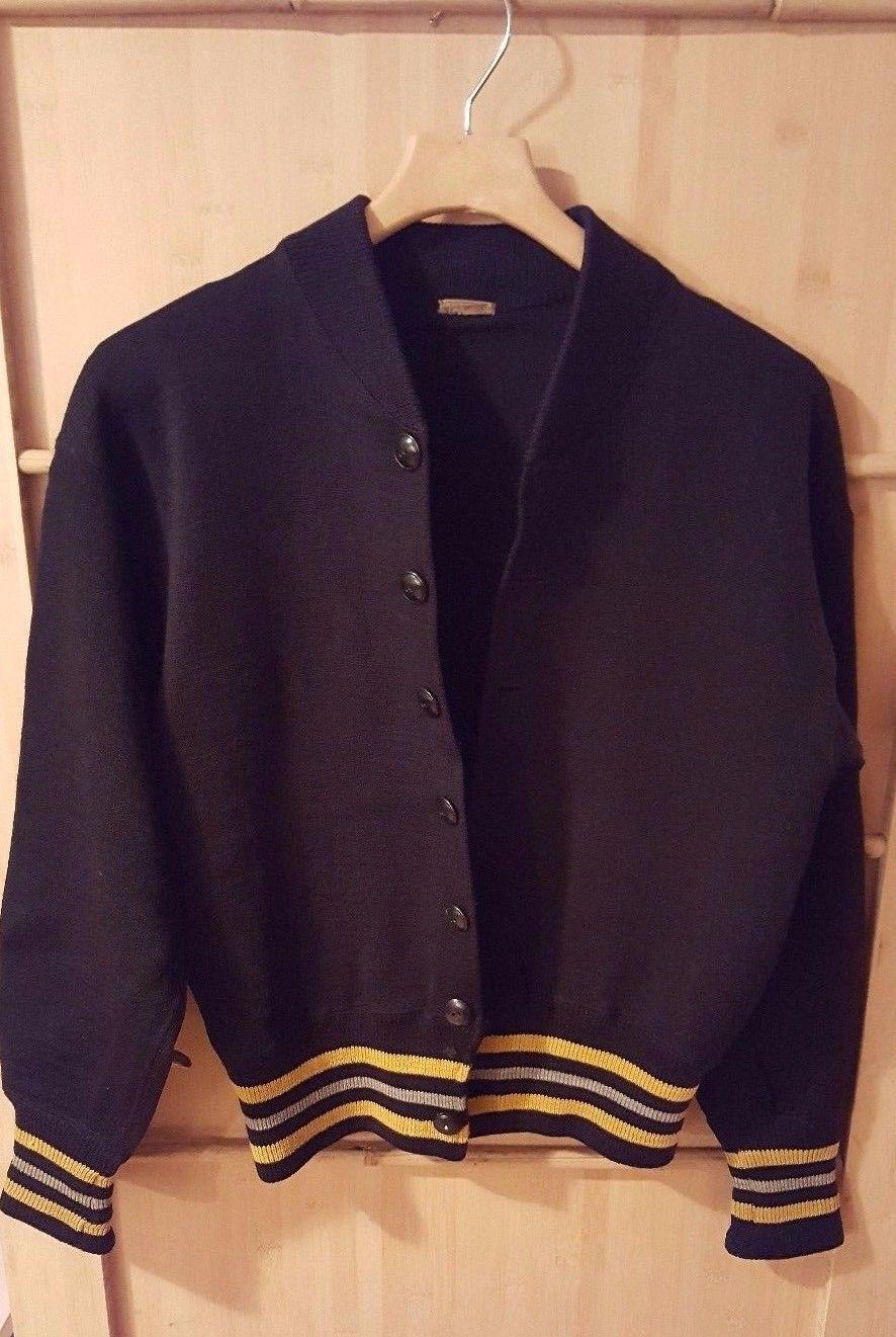 VTG RARE 1940s West Point Army Cadet Wool Sweater Cardigan Hardin ...