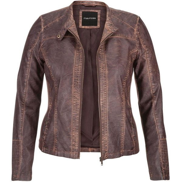 maurices Plus Size Distressed Moto Jacket With Ribbed Knit