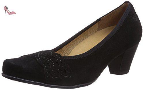 22403, Zapatos de Tacón para Mujer, Negro (Blk Flower Com), 37 EU Caprice