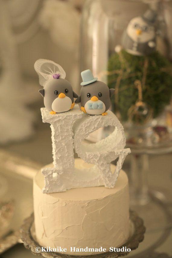 Penguins Wedding Cake Topper (K429) | Pinterest | Penguins, Wedding ...