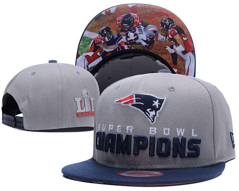 206d9f49e5d35 New England Patriots 2017 Super Bowl LI Champions Adjustable Hat Gray YD