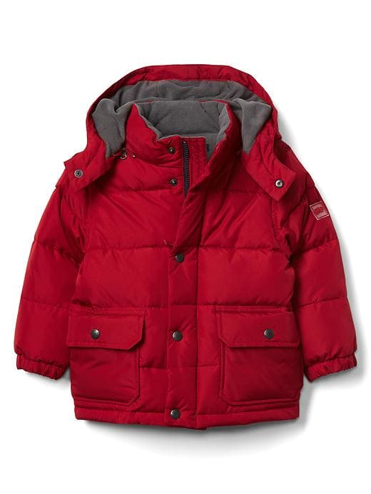 f08e6dcf2 Gap Baby Fleece-Lined Puffer Hoodie Red Apple | Products | Toddler ...