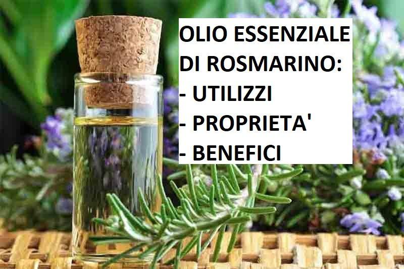 Olio essenziale di rosmarino: proprietà, uso e controindicazioni