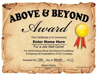 A job well done award Employee appreciation Pinterest - job well done