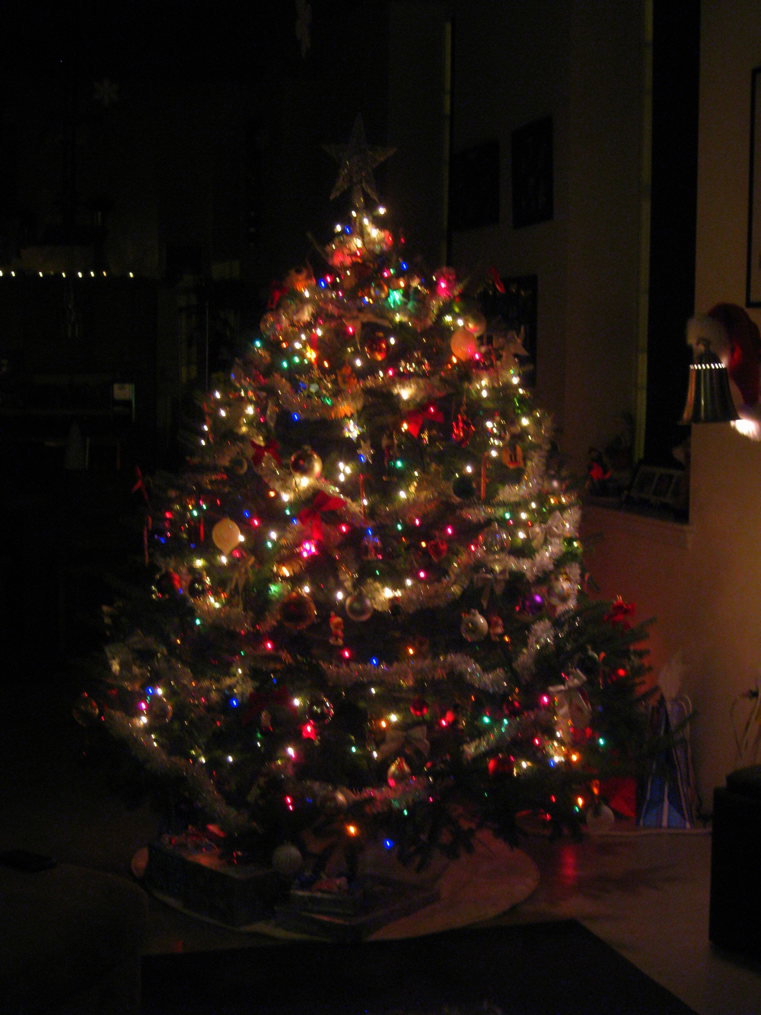 We Do A Mix Of White And Colored Lights On Our Tree We Set It Up
