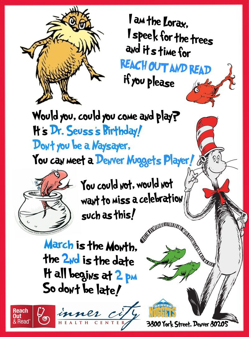 Dr. suess's Birthday Celebration. Reach Out and Read