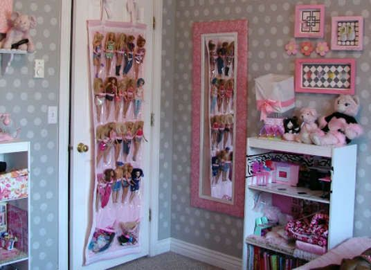 Charmant Repurpose An Old Shoe Organizer As A Barbie Doll Storage Racku2014or Sew Your  Own Organizer
