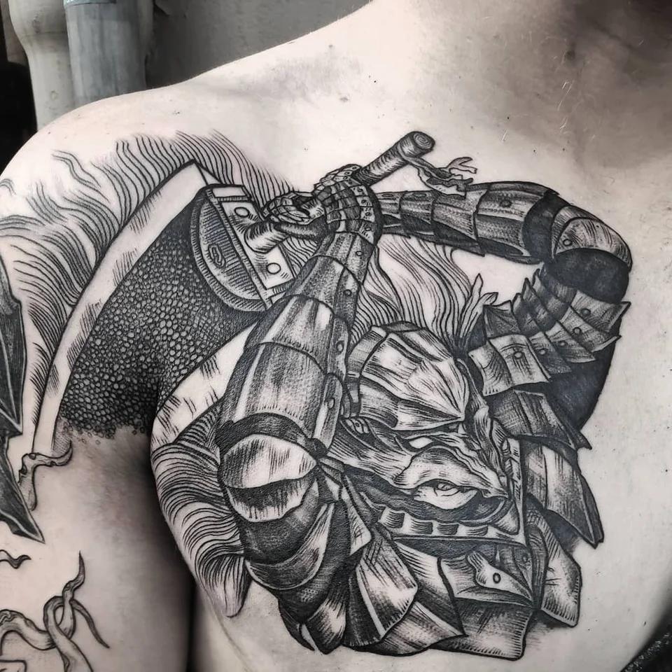 Berserker Armor Tattoo Done By Ig Oskar Gurdaba Berserk Em 2020 Tatuagem Desenhos E Ilustracoes Ilustracao