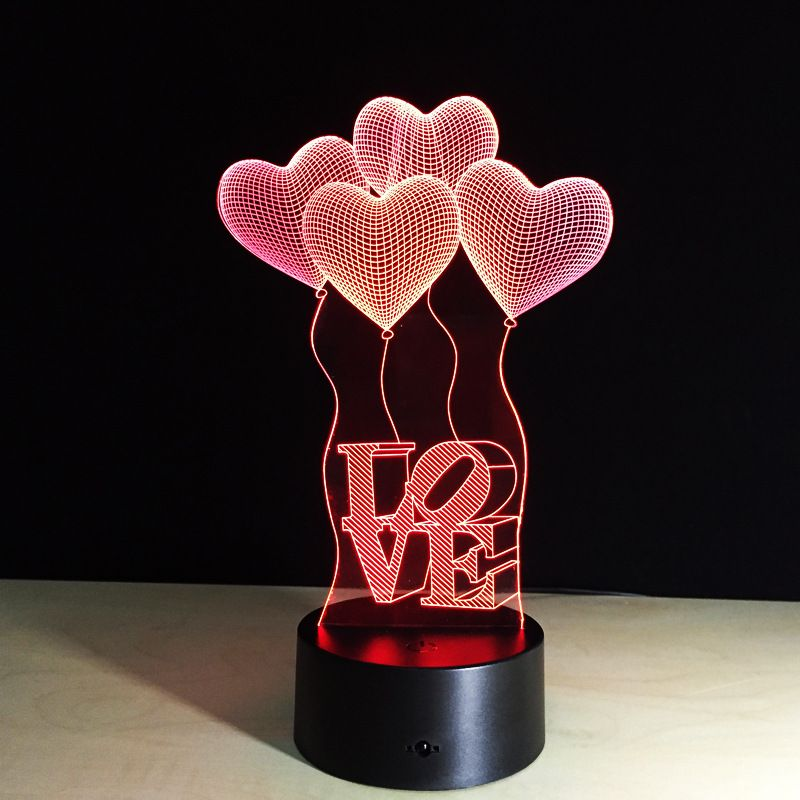 Great Colorful Led Valentineu0027s Day Party Decorative Night Light LOVE Letter Heart  Shape Atmosphere 3D Night Lamp Pictures