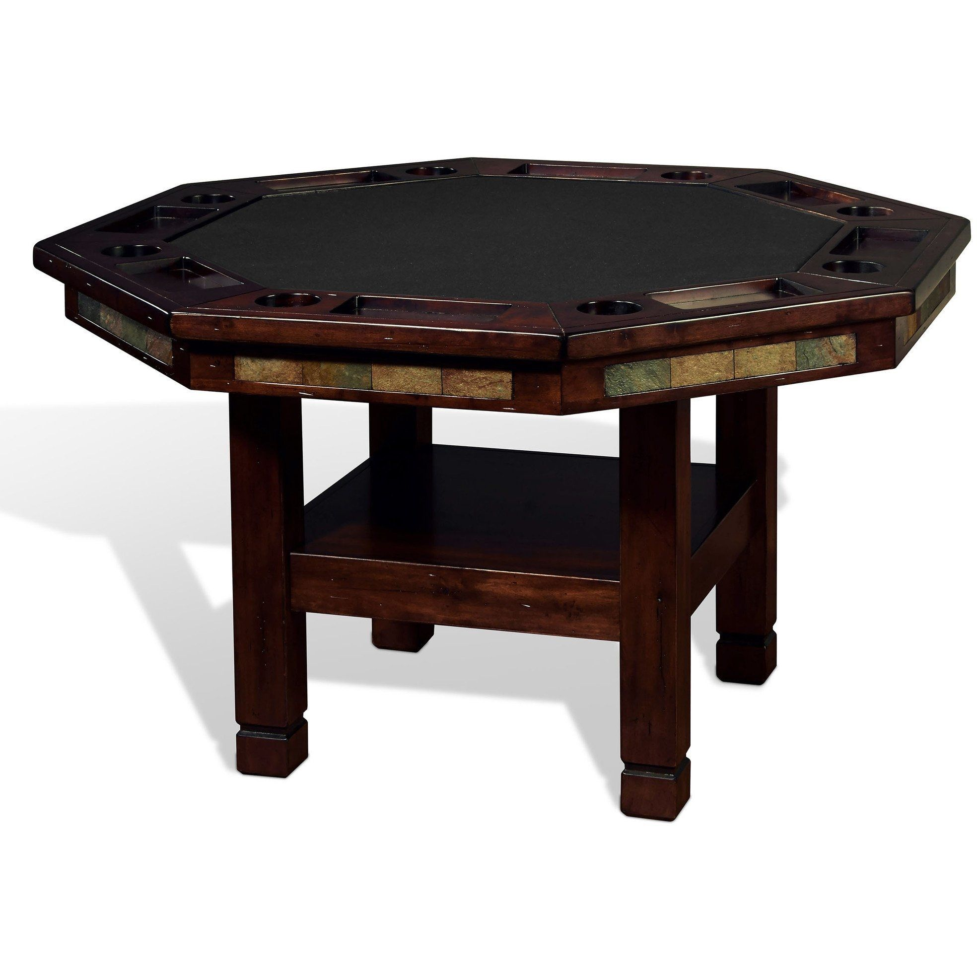 Convertible Poker & Dining Table Santa Fe by Sunny Designs ...