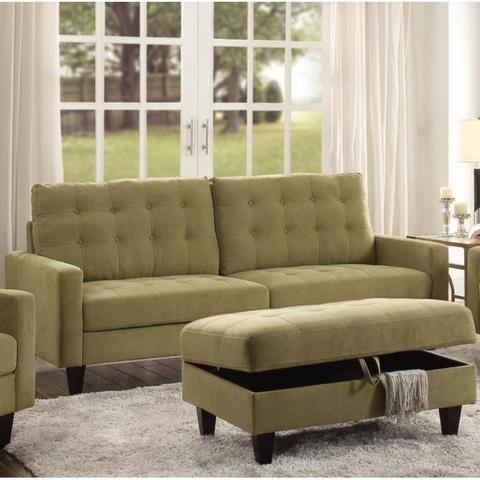 Best Acme Nate Mustard Fabric 3 Pc Living Room Set Living 640 x 480
