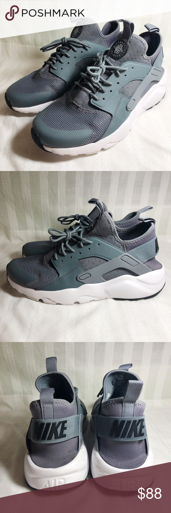 4cbe6a4c9cb23 Nike Men s Air Huarache Run Ultra Sz 9.5 Cool Grey Nike Men s Air Huarache  Run Ultra