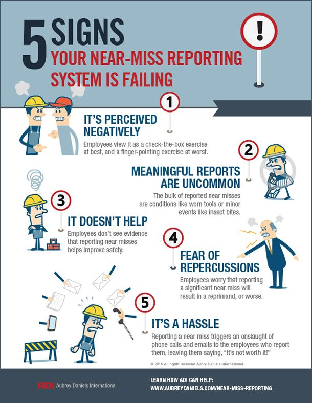 Near Miss Reporting Infographic Safety Workplace
