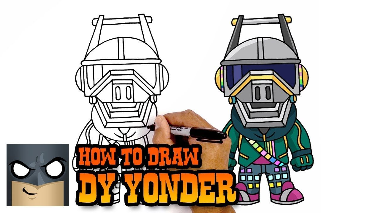 How To Draw Dj Yonder Fortnite Awesome Step By Step