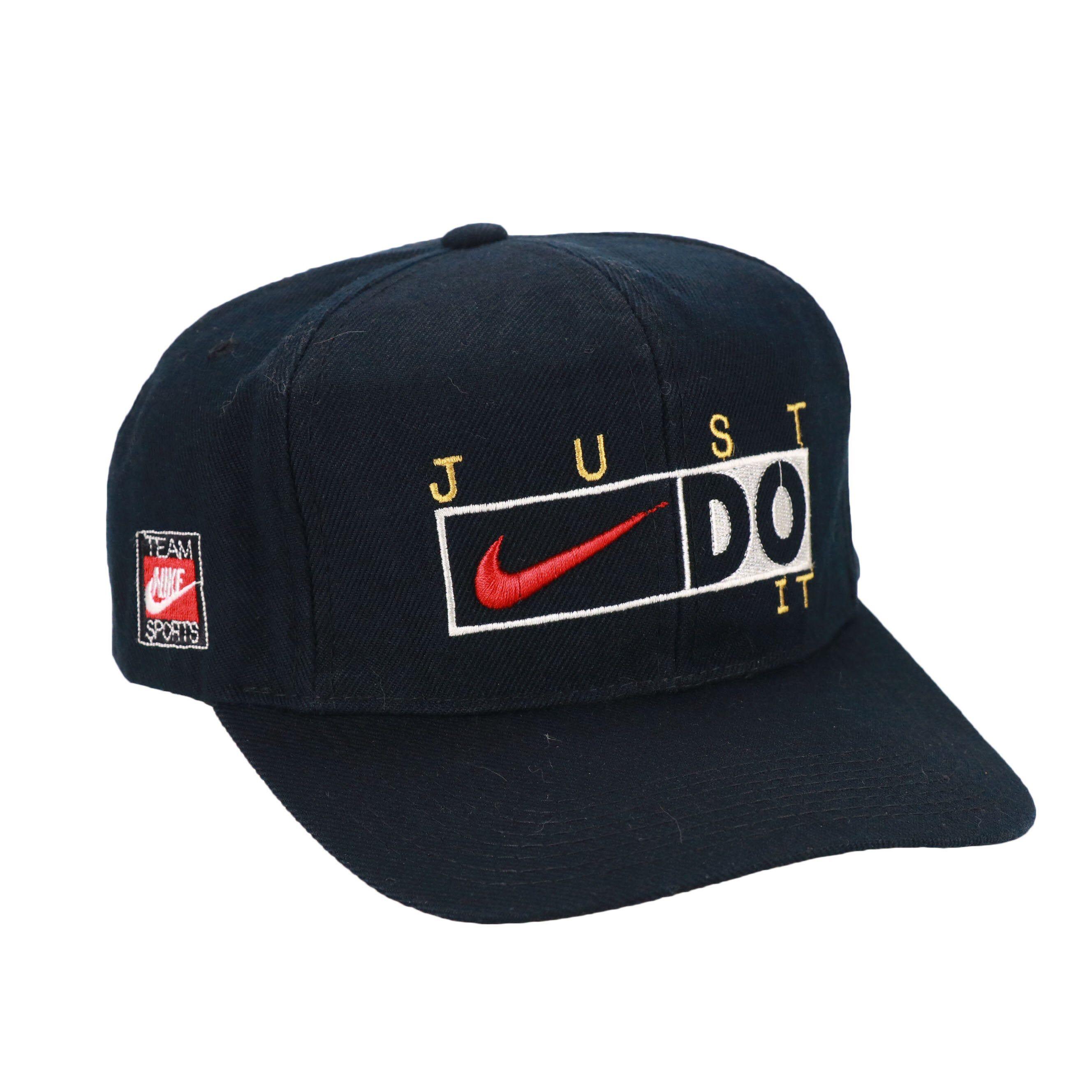 Vintage 90s Nike Big Swoosh Logo Cap Hat Snapback Nike Just Etsy 90s Nike Vintage Nike Nike Cap